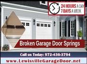 24/7 Garage Door Spring Repair ($25.95) Lewisville Dallas,  75056 TX